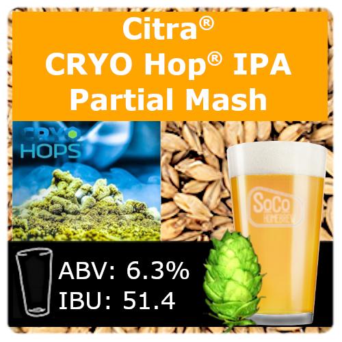 SoCo Citra® Cryo Hop® IPA - Partial Mash
