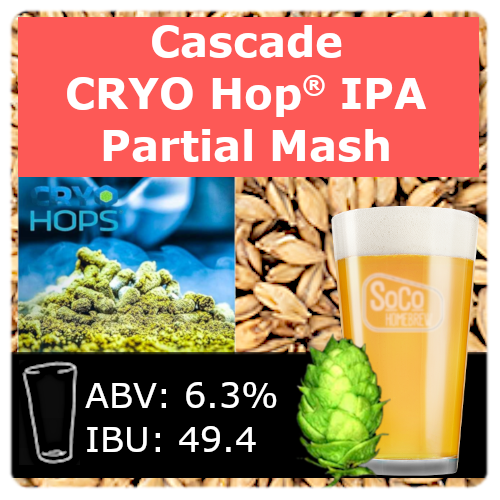 SoCo Cascade Cryo Hop® IPA - Partial Mash