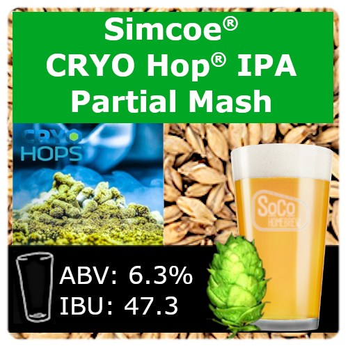 SoCo Simcoe® Cryo Hop® IPA - Partial Mash
