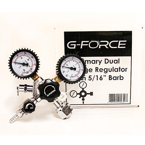 """G-Force Primary Dual Gauge Regulator with 5/16"""" Barb"""