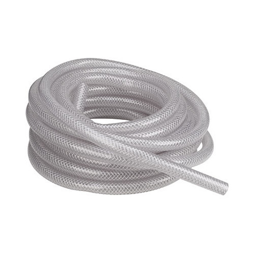 "Clearbraid Reinforced Crystal Clear PVC Tubing - 5/16"" ID - 100 Foot Roll"