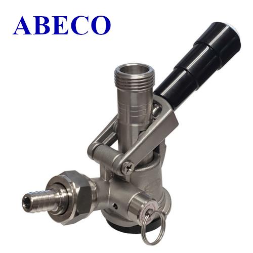 S System ABECO European Sankey Keg Coupler - SS Body & Probe