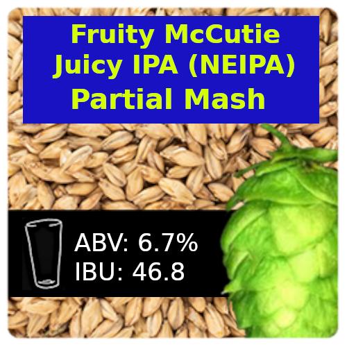 SoCo Fruity McCutie Juicy IPA (NEIPA) Partial Mash Recipe Kit