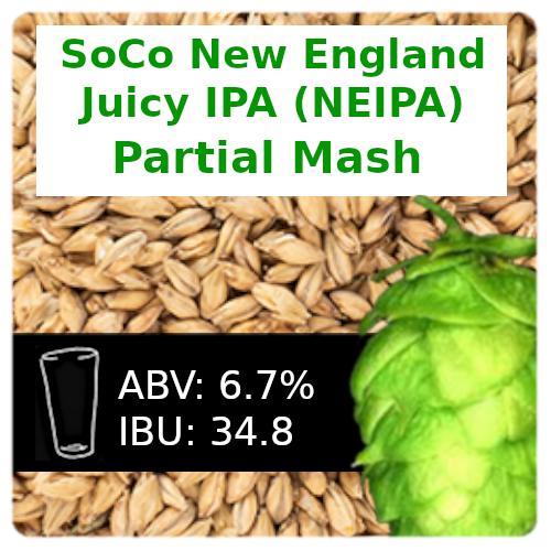 SoCo New England Juicy IPA (NEIPA) Partial Mash Recipe Kit