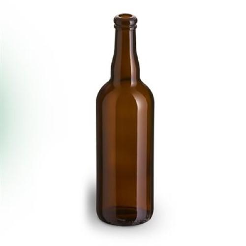 Belgian 750 ML Glass Beer Bottles - 12/Case