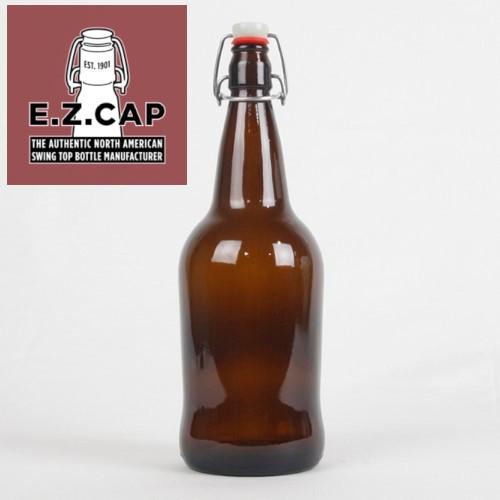 EZ Cap - 1 Liter Amber Bottle - 12/Case