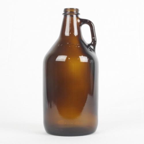 Amber 1/2 Gallon (64 Ounce) Glass Growler