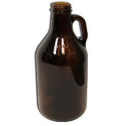 Amber 1/4 Gallon (32 Ounce) Glass Growler