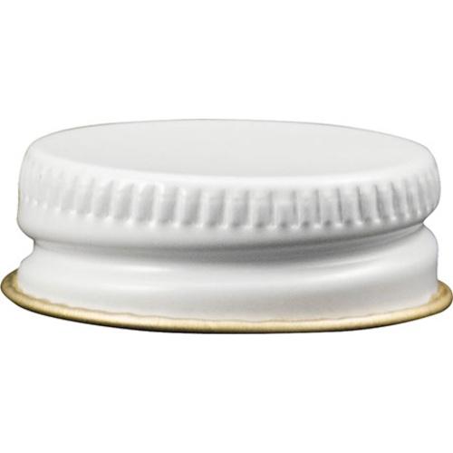 28 mm White Metal Screw Cap