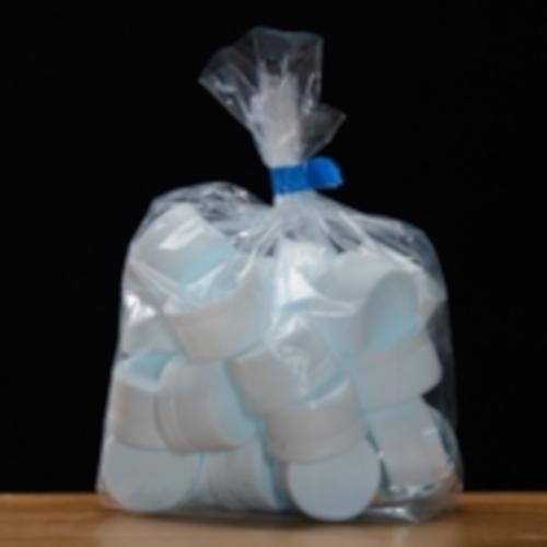 White Plastic Screw Caps, 28mm, bag of 25