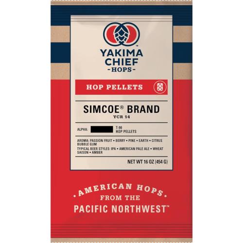 SIMCOE®  HOP PELLETS (US) - 1 LB