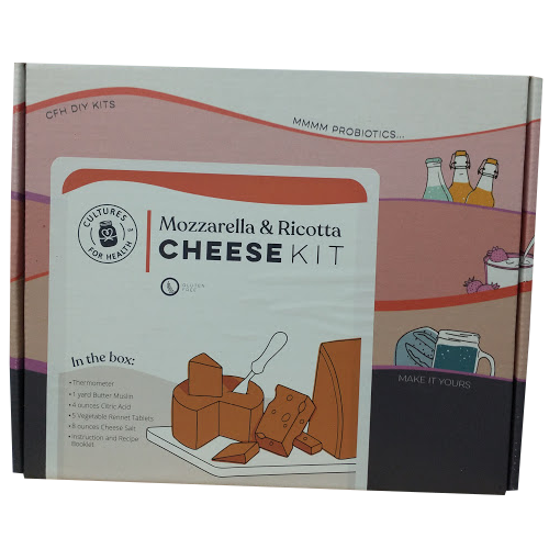 Mozzarella and Ricotta Cheesemaking Kit - Cultures For Health (CFH)