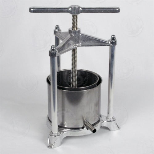 Fruit Press - Aluminum/Stainless Steel - 5 Lt Cage (Large)