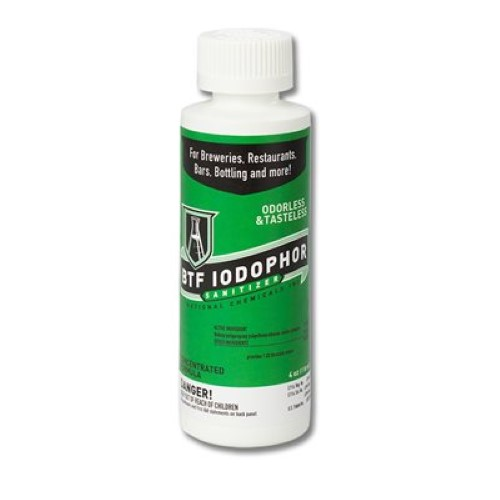 Iodophor Sanitizer - 4 oz