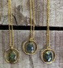 Gold Labradorite Faceted Raw Gemstone Necklace