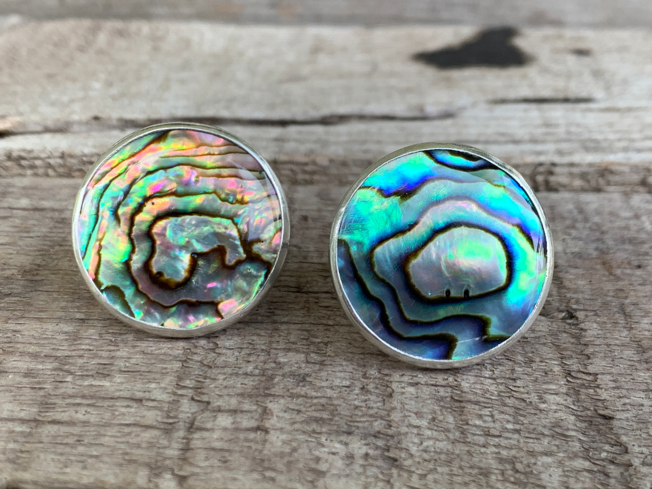 Long Chunky Paua Shell 925 Sterling Silver Ring Statement Abalone Shell Geometric Silver Ring Triangle Shells Braided Textured Silver Ring