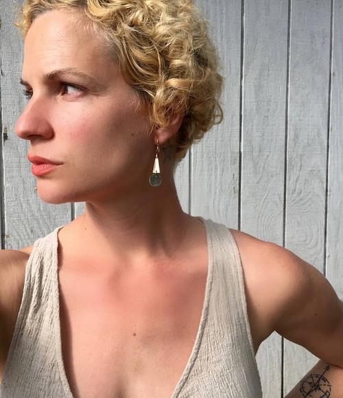 Copper Brass and Gold Geometric Boho Chic Dangle Earrings | Rustic Earrings | Rocker | Tribal | Dangle Earrings