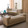 Fabric Sofa Set - Eden - Gold