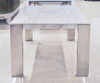 Laterza II Marble End Table - Volakas Marble