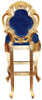 Colette Modern Bar Stool Blue Velvet