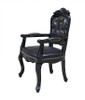 Rococo Black Accent Arm Chair
