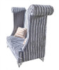Double High Back Chair - Savoy Silver Gray