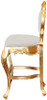 Colette Modern Bar Stool White Velvet