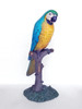 Parrot on Tree Branch Life Size Statue