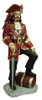 Pirate Captain Statue with Barrel Life Size