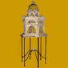 Stone Venetian Decorative Bidcage with Stand Large