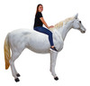 White Horse Life Size Statue Standing