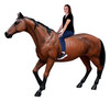 Brown Horse Life Size Statue Walking