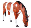 Indian Horse Life Size Statue Grazing