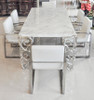 Soho White Volakas Marble Dining Table 86.6""