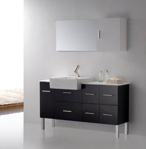 Loza II Modern Bathroom Vanity Set 55""