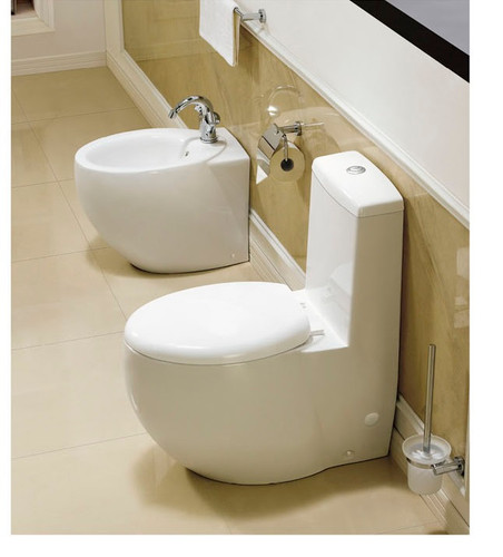 Modern Bathroom Toilet - One Piece Dual Flush - Varazze