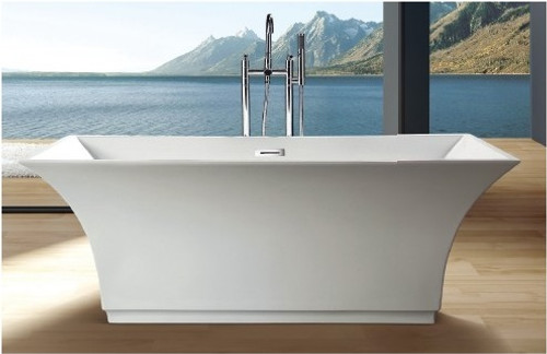Danito Acrylic Modern Freestanding Soaking Bathtub 67""