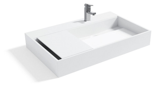 Malibu Designer Solid Surface Bathroom Sink 31.5""