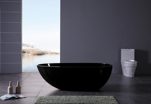 Ethos IV  Freestanding Soaking Tub Black 59""