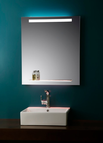 Nissa Lighted Vanity Mirror with Glass Shelf