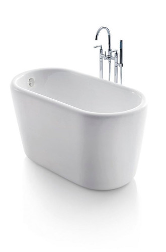 Giano Acrylic Modern Freestanding Soaking Bathtub 51""