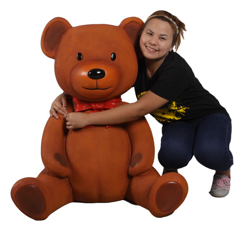 Large Sitting Teddy Bear Statue For Christmas Commercial Displays