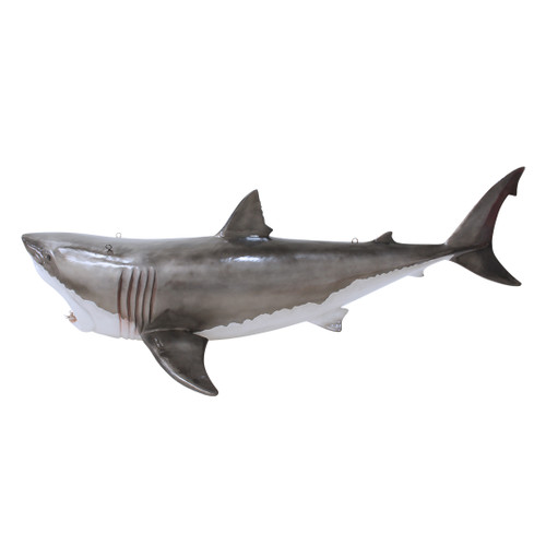 Great White Shark Statue Hanging Life Size 11 FT