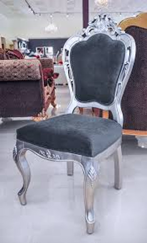 Modern Dining Chair -Silver Frame - Angelina