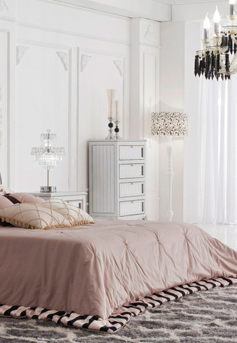 Silver Chest of Drawers - Geneve