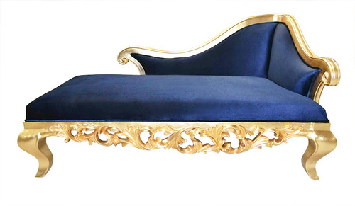 Claudette Chaise Lounge Sofa - Blue