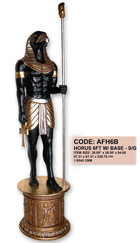 Egyptian Horus Statue with Base 8FT