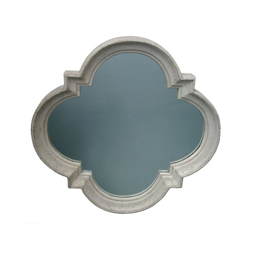 Quadrofoil Mirror - Roman Stone Finish