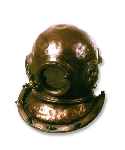 Scuba Diving Helmet Life Size Sculpture