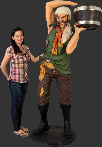 Pirate Statue with Bucket Life Size